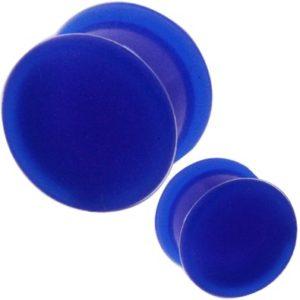 modrý silikonový plug