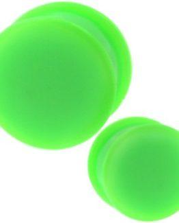 zeleny silikonový plug