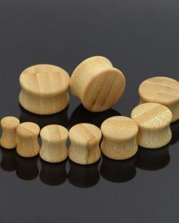 dřevěný pluh do ucha bambus