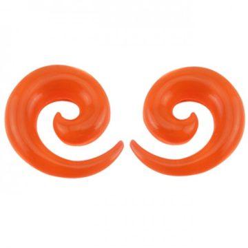 oranžová spirála do ucha