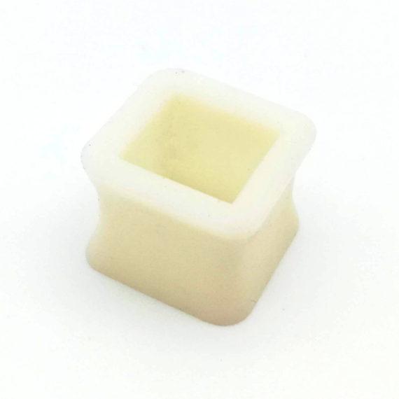 Bílý silikonový tunel - čtverec